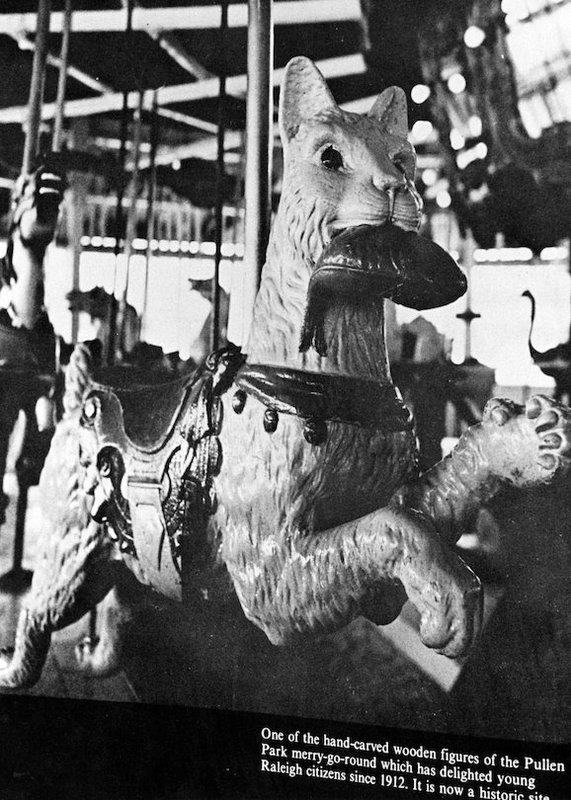 Carousel at Pullen Park, circa 1970 to 1979