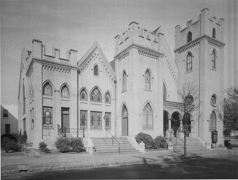 Tabernacle Baptist Church, Hargett Street side, 1944.&lt;br /&gt;<br /> &lt;br /&gt;<br />