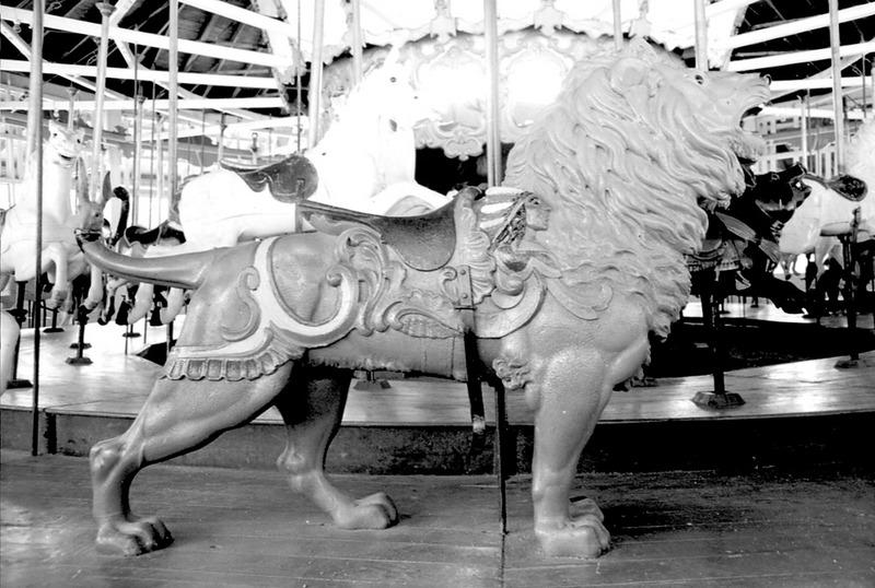 Lion on the Pullen Park Carousel, 1976